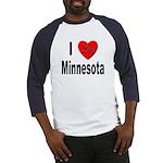 I Love Minnesota (Front) Baseball Jersey