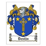 Devlin Family Crest Small Poster