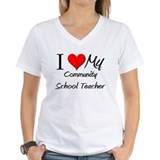I Heart My Community School Teacher Shirt