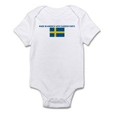 MADE IN AMERICA WITH SWEDISH  Infant Bodysuit