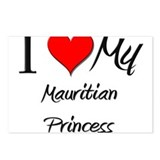 I Love My Mauritian Princess Postcards (Package of