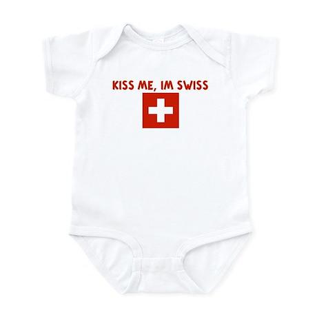 KISS ME IM SWISS Infant Bodysuit