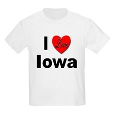 I Love Iowa Kids T-Shirt
