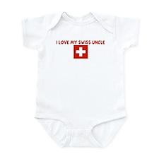I LOVE MY SWISS UNCLE Infant Bodysuit