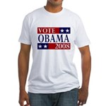 Vote Obama 2008 Fitted T-Shirt