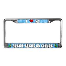 Crtn Love Green-Cheeked Conure License Plate Frame