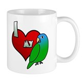 I Love my Blue-Crowned Conure Small Mug