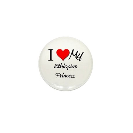 I Love My Ethiopian Princess Mini Button (10 pack)