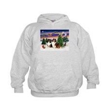Xmas Tree/Two Shelties Hoodie