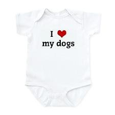 I Love my dogs Infant Bodysuit