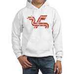 Dragon logo Distressed Hooded Sweatshirt