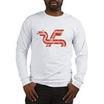 Dragon logo Distressed Long Sleeve T-Shirt