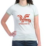 Dragon 64 Distressed Jr. Ringer T-Shirt