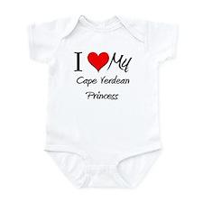 I Love My Cape Verdean Princess Infant Bodysuit