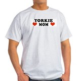 Yorkie Mom Ash Grey T-Shirt