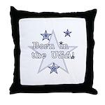 Born in the USA Throw Pillow