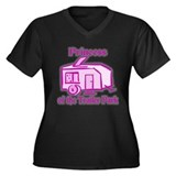 Princess of Trailer Park Women's Plus Size V-Neck