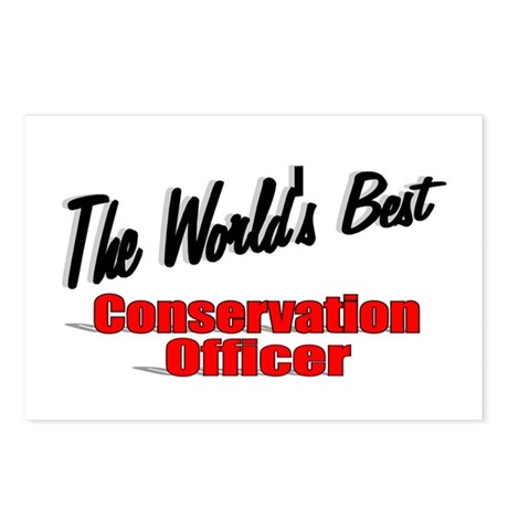 """The World's Best Conservation Officer"" Postcards"