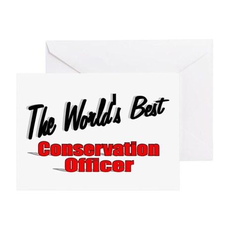 """The World's Best Conservation Officer"" Greeting C"