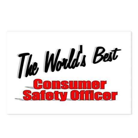 """The World's Best Consumer Safety Officer"" Postcar"