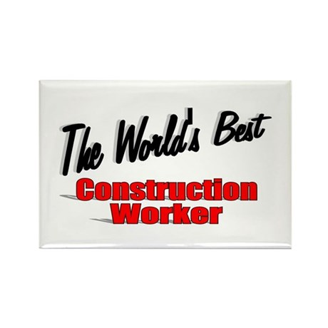 """The World's Best Construction Worker"" Rectangle M"