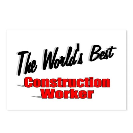 """The World's Best Construction Worker"" Postcards ("