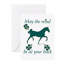 Saddlebred and Shamrocks Greeting Cards (Pk of 10)