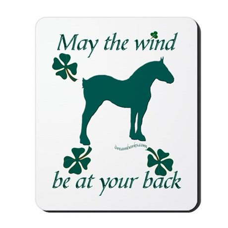 Draft Horse and Shamrocks Mousepad