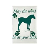 Draft Horse and Shamrocks Rectangle Magnet (10 pac