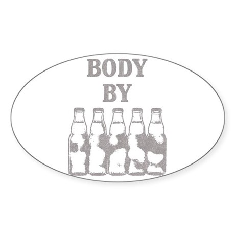 Body By Beer Oval Sticker