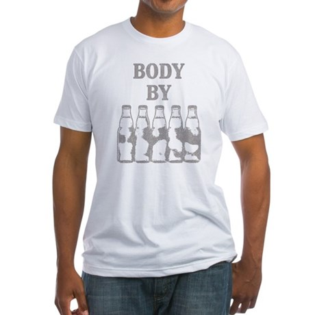 Body By Beer Fitted T-Shirt