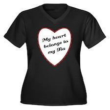 My Heart Belongs to My Tia Women's Plus Size V-Nec