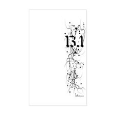 13.1 Grunge Rectangle Bumper Stickers