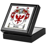 Drake Family Crest Keepsake Box