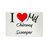 I Heart My Chimney Sweeper Rectangle Magnet (10 pa