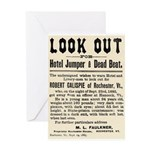 Look Out Dead Beat Greeting Card
