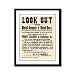 Look Out Dead Beat Framed Panel Print