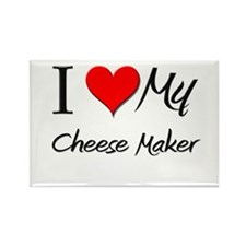 I Heart My Cheese Maker Rectangle Magnet