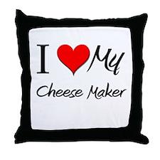 I Heart My Cheese Maker Throw Pillow