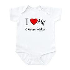 I Heart My Cheese Maker Infant Bodysuit