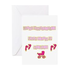 Expecting a baby..girl Greeting Card