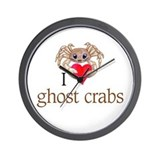 I heart ghost crabs Wall Clock