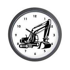 Heavy Equipment Backhoe Operator Wall Clock