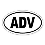 ADV Oval  Aufkleber