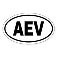 AEV Oval Decal