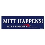 Mitt Happens! Bumper Car Sticker