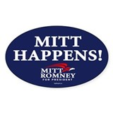 Mitt Happens! Oval Decal