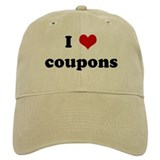 I Love coupons Baseball Cap