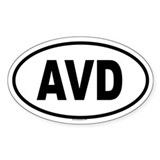 AVD Oval Decal