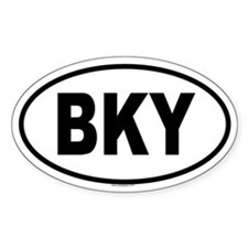 BKY Oval Decal